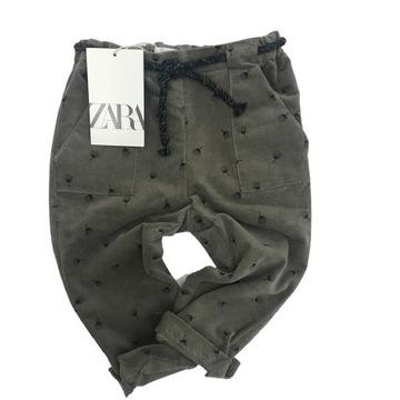 Spodnie dziecięce ZARA, roz. 86cm, bawełna