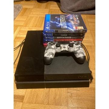 Konsola Sony PlayStation 4 + zestaw 5 gier + pad