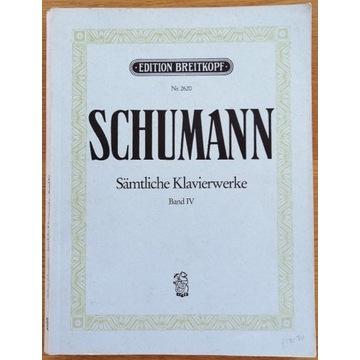 """SCHUMANN """"Sämtliche Klavierwerke"""" Band IV"""