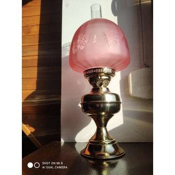 Angielska mosiężna lampa naftowa