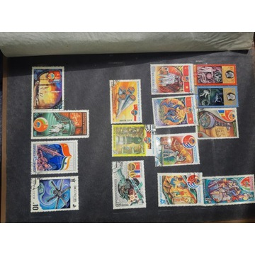 Album znaczki Astronauci
