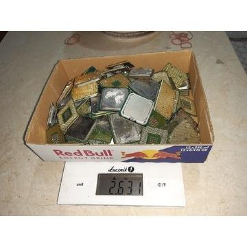 Odzysk złota. Procesory 2,631 kg.