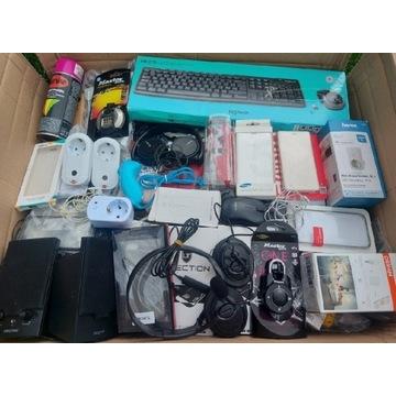 Pakiet paczka elektronika różności zwroty paka mix