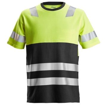 SNICKERS odblaskowa koszulka t-shirt żółta