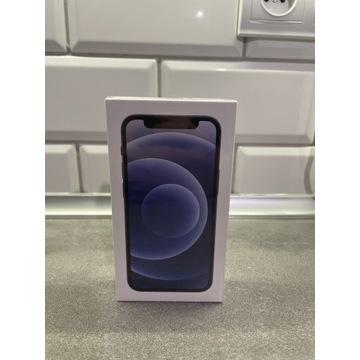 iPhone 12 mini 64gb Black nowy zafoliowany 24mc gw