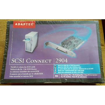 Nowy kontroler Adaptec SCSI Connect 2904 na PCI
