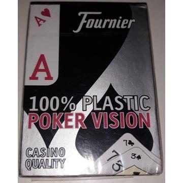 Karty pokerowe Fournier 100% plastik Poker Vision