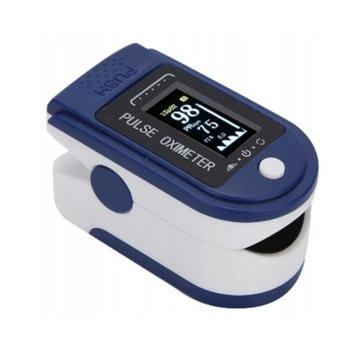Medyczny PULSOKSYMETR napalcowy niebieski