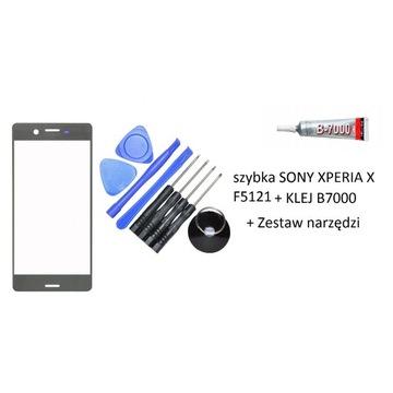 Szybka Sony Xperia X F5121 +klej B7000 +narzędzia