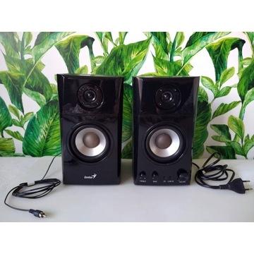 Zadbane głośniki Genius drewniane monitory dźwięku