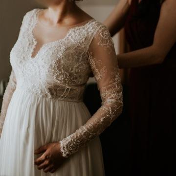 Suknia ślubna Emmi Mariage ecru rozm. 38