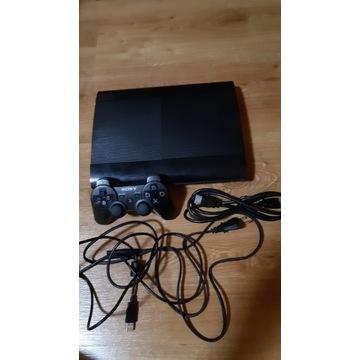 PS3 Super Slim 500GB + pad SONY + okablowanie +gry