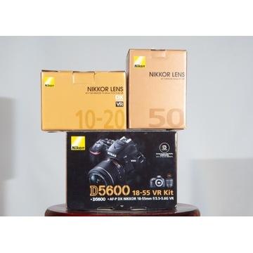 Nikon D5600 4300 zdjęć+ obiektywy GWARANCJA
