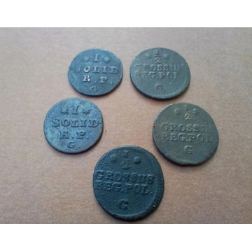 ZESTAW 5 monet