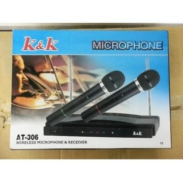 karaoke zestaw 2 mikrofony bezprzewodowe