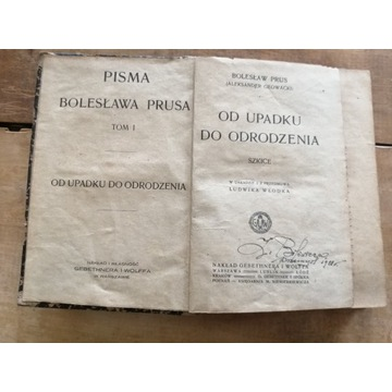 Stara książka OD UPADKU DO URODZENIA B. PRUS