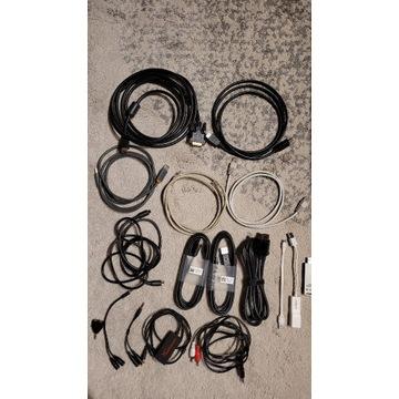 Różne kable- HDMI, audio, sieciowe oraz Wifi USB-C