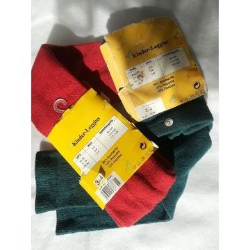 2 pary rajstopowych legginsów 98-104