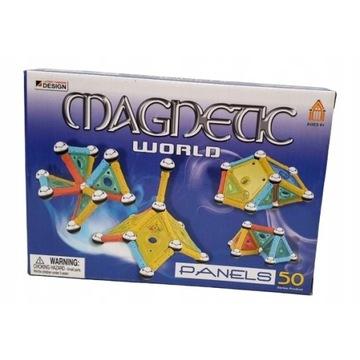 KLOCKI MAGNETYCZNE Konstrukcyjne Magnetic 3D 50el