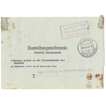 GG - Dowód doręcz. z Ludźmierza k. N.Targu 1944