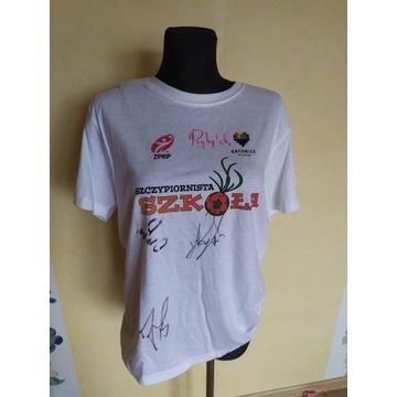 Koszulka z autografami polskich szczypiornistów
