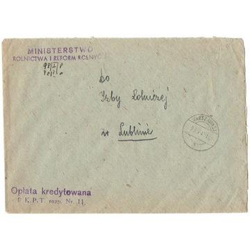Warszawa - Stempel cenzury nr.1497 z 1945 r.