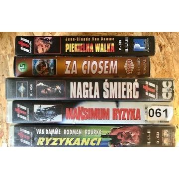 filmy z Van Damme VHS - 5 sztuk