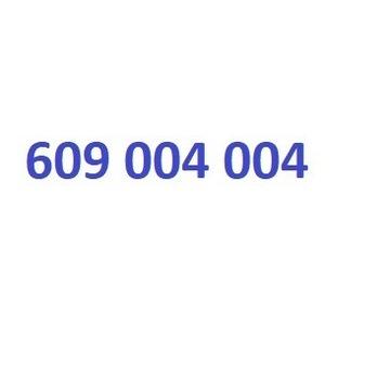 złoty numer 609 004 004