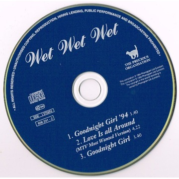 Wet Wet Wet Goodnight Girl '94