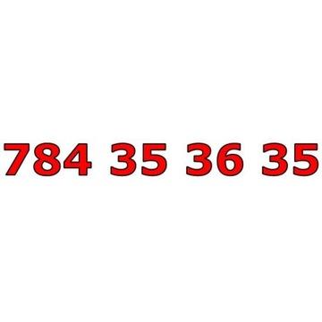 784 35 36 35 T-MOBILE ŁATWY ZŁOTY NUMER STARTER