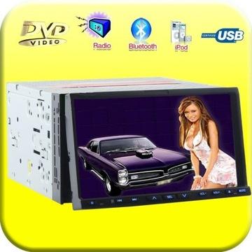 "Radio 7""USB DVD MP3 Bluetooth TV iPod SD+Pilot GPS"