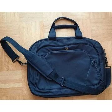 Czarna torba na laptopa 43x34 stan idealny