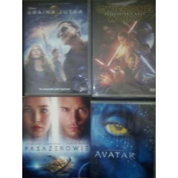 4 filmy DVD przygodowe, fantastyczne, akcji