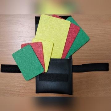 Kartki sędziowskie siatkówka żółta czerw zielona
