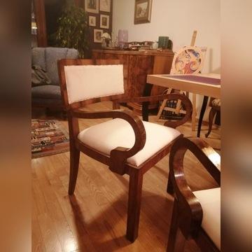 Fotele orginalne polskie art deco, 2 sztuki.