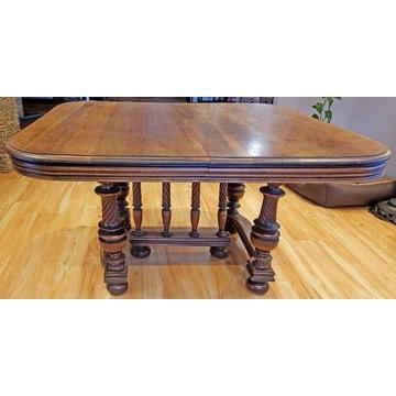 stół biesiadny, XIX w, rozkładany duży, stylowy