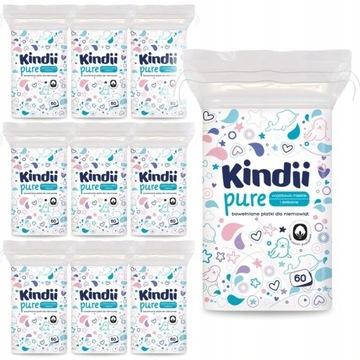 CLEANIC KINDII Pure Płatki kosmetyczne 10opx60szt