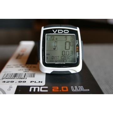 Licznik rowerowy VDO MC 2.0 WL, komplet
