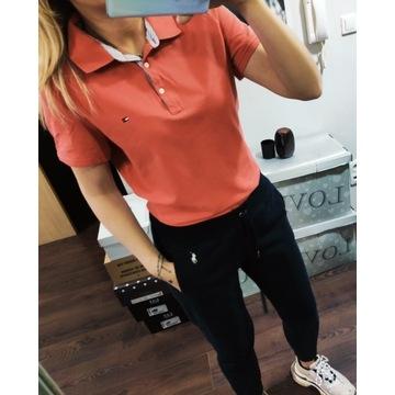 Pomarańczowa koszulka polo Tommy Hilfiger L