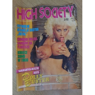 Hight Society nr 3/92 czasopismo magazyn + gratis