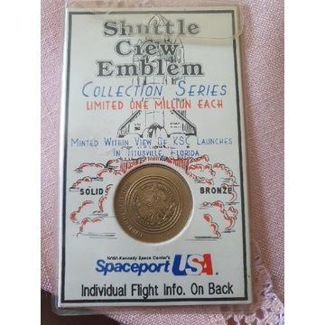 Shuttle Crew Emblem Collection Series Bronze Coin