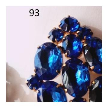 Biżuteria #93 Broszka Szkło  kolor Szafir