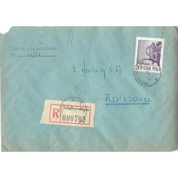 Międzyzdroje - Koperty listów poleconych 1960-80