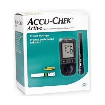 glukometr Accu-Check Active + PASKI TESTOWE Nowy