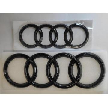 Audi A6 S6 C7 logo emblemat ringi przód tył czarny