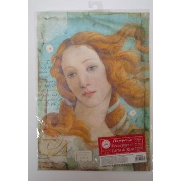 Papier ryżowy Stamperia A4 Narodziny Wenus Bottice