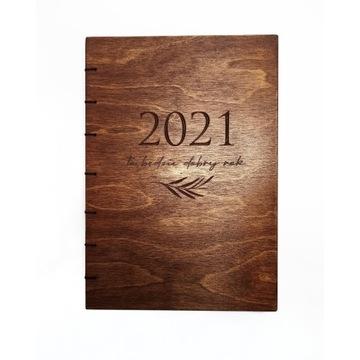 Kalendarz drewniany tygodniowy szyty 21 Terminarz