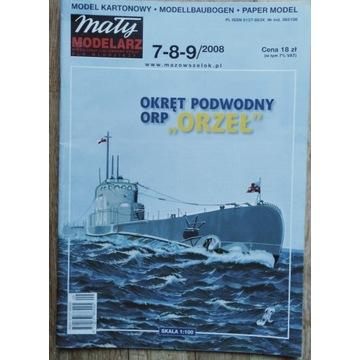 Okręt ORP Orzeł Mały Modelarz 2008/7-8-9