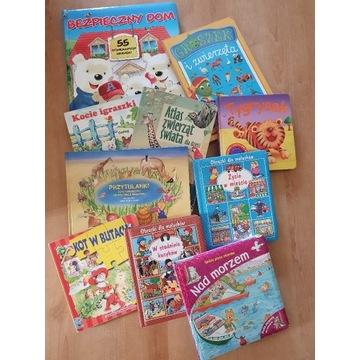 10 książeczek przedszkole twarde karty okienka