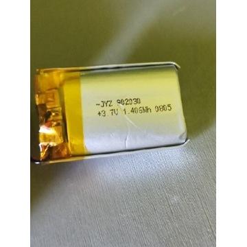 Akumulator Li-po około 350mAh 1.4Wh 3,7v